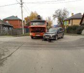КамАЗ и Mitsubishi с похожими госномерами не разъехались на перекрёстке в Бердске