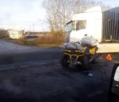 88-летний байкер на квадроцикле травмирован в ДТП в Искитимском районе