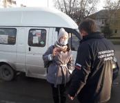 Проверили соблюдение масочного режима в маршрутках и автобусах Бердска представители минтранса НСО