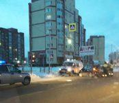 Две иномарки не разъехались без пострадавших на перекрёстке в Бердске
