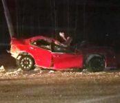 Два молодых человека погибли после наезда на столб на трассе Р-255