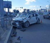 В столкновении двух автомобилей в Новосибирске погиб один человек