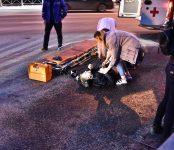 Сломал ногу и получил многочисленные ссадины байкер в столкновении с легковушкой на трассе в Бердске
