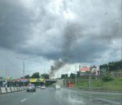 В МЧС региона установили предварительную причину вчерашнего пожара на АЗС «Гранд» в районе «Метро» в Новосибирске