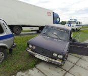 Полицейская погоня: на трассе Р-255 новосибирская полиция задержала угнанную «шестёрку»