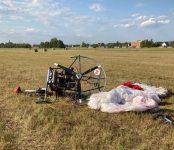 В результате жёсткой посадки на чемпионате России по мотопланеризму в Бердске травмированы два пилота
