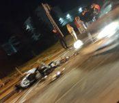 Ночной мотоциклист повредил ногу об автомобиль на трассе Р-256 у «Пентагона» в Бердске
