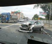 «Лексус» протаранил рейсовый автобус №3 на трассе Р-256 в Бердске