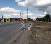 На улице Черёмушной в Бердске власти временно ограничили транспортное движение