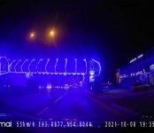 Автомобилистка из Бердска выступила против креативной подсветки пешеходного моста в Новом посёлке