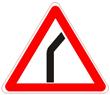 Знак 1.11.1 Опасный поворот (правый)